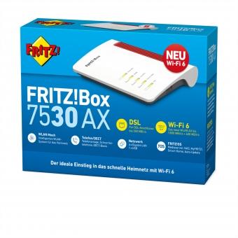 AVM FRITZ!Box 7530 AX (ADSL / VDSL Modem / Router / Gigabit-LAN/  DUAL Band WLAN-AX / Telefonanlage)