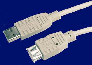 USB 2.0 Verlängerungs-Kabel, A-Stecker -> A-Buchse 3.0 Meter