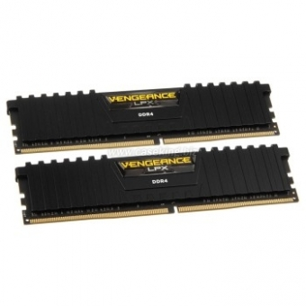 DDR4 16GB 2666MHz CL16 CORSAIR KIT (2x8GB) Vengeance LPX retail , schwarz