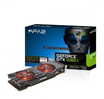 KFA2 GTX1080 Ti EXOC 11GB HDMI/3xDP DDR5X retail ( 1x HDMI, 3x DisplayPort )