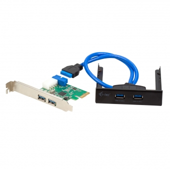 I-TEC USB 3.0 Front Panel inkl. PCI-Express Karte, 2x Extern / 1x Intern