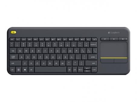 Logitech K400 Plus Kabellose Tastatur mit Touchpad Schwarz
