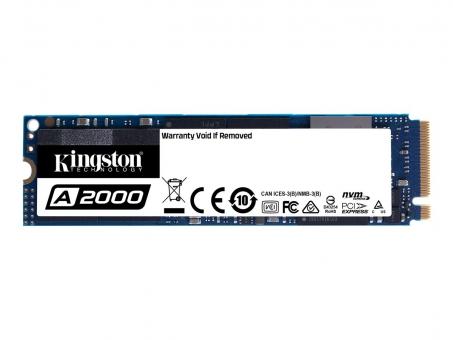 SSD M.2 500GB Kingston A2000 NVMe PCIe 3.0 x4 , Lesen bis 2200MB/s , Schreiben bis 2000MB/s