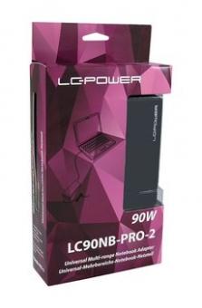 90Watt Notebook Netzteil LC-Power LC90NB-Pro-2 mit 8 Adaptern