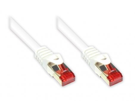 Netzwerkkabel Patchkabel Cat6 S/FTP , Gigabit-LAN (1000MBit) 20m weiß