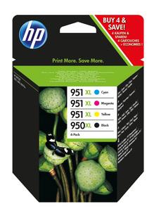 Multipack Tinte Original HP Nr.950XL + 951XL , schwarz/cyan/magenta/gelb