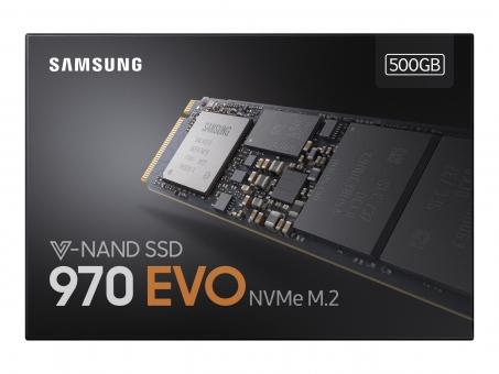 M.2 SSD 500GB Samsung 970 Evo Basic PCIe , 3400MB/s lesen , 2300MB/s schreiben