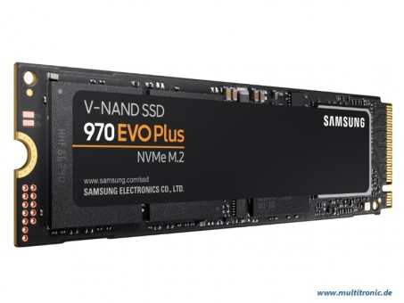 M.2 SSD 500GB Samsung 970 Evo PLUS PCIe , 3500MB/s lesen , 3300MB/s schreiben