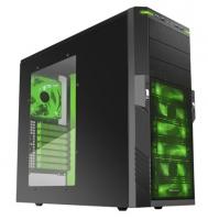 Midi Tower Sharkoon T9 Green Edition mit Fenster (2xUSB3.0/ 2xUSB2.0/ Audio)